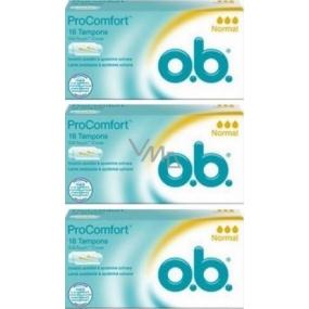 o.b. Pro Comfort Normal tampony 3 x 16 kusů