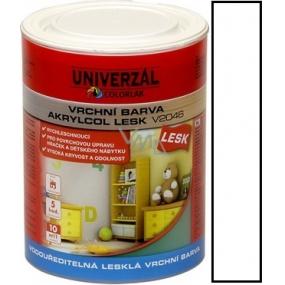 Colorlak Akrylcol Lesk V2046 vodouředitelná lesklá vrchní barva Bílá 0,6 l