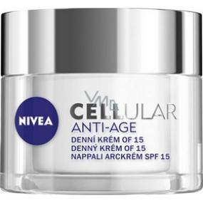 Nivea Cellular Anti-Age SPF15 denní krém pro omlazení pleti 50 ml