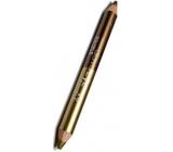 Princessa Davis Eye Double Colour oční stíny v tužce + ořezávátko 016 hnědá a zlatá 6 g