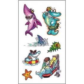 Tetování barevné žraloci 16,5 x 10,5 cm