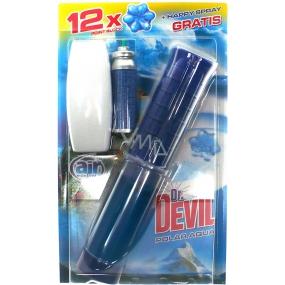 Dr. Devil Polar Aqua 3v1 Point Block Wc 75 ml + Air Menline Aqua World Happy spray osvěžovač vzduchu komplet + náplň 1 x 15 ml