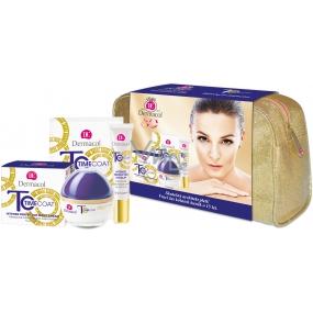 Dermacol Time Coat Day Cream intenzivně zdokonalující denní krém 50 ml + krém na oči a rty 15 ml + pleťová maska 2 x 8 ml + etue, kosmetická sada