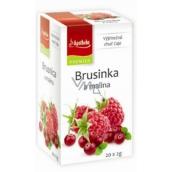 Apotheke Natur Brusinka a malina ovocný čaj 20 x 2 g