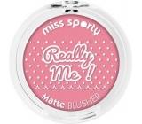Miss Sporty Really Me! Matte Blusher tvářenka 102 Really Sweet 5 g