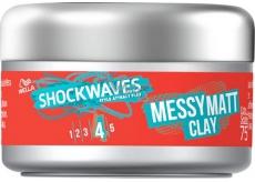 Wella Shockwaves Messy Matt Clay tvarující jíl na vlasy 75 ml