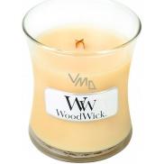 WoodWick Lemongrass & Lily - Citronová tráva a lilie vonná svíčka s dřevěným knotem a víčkem sklo malá 85 g