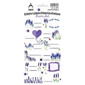 Arch Samolepky do domácnosti dekorační etikety Levandule 12 etiket