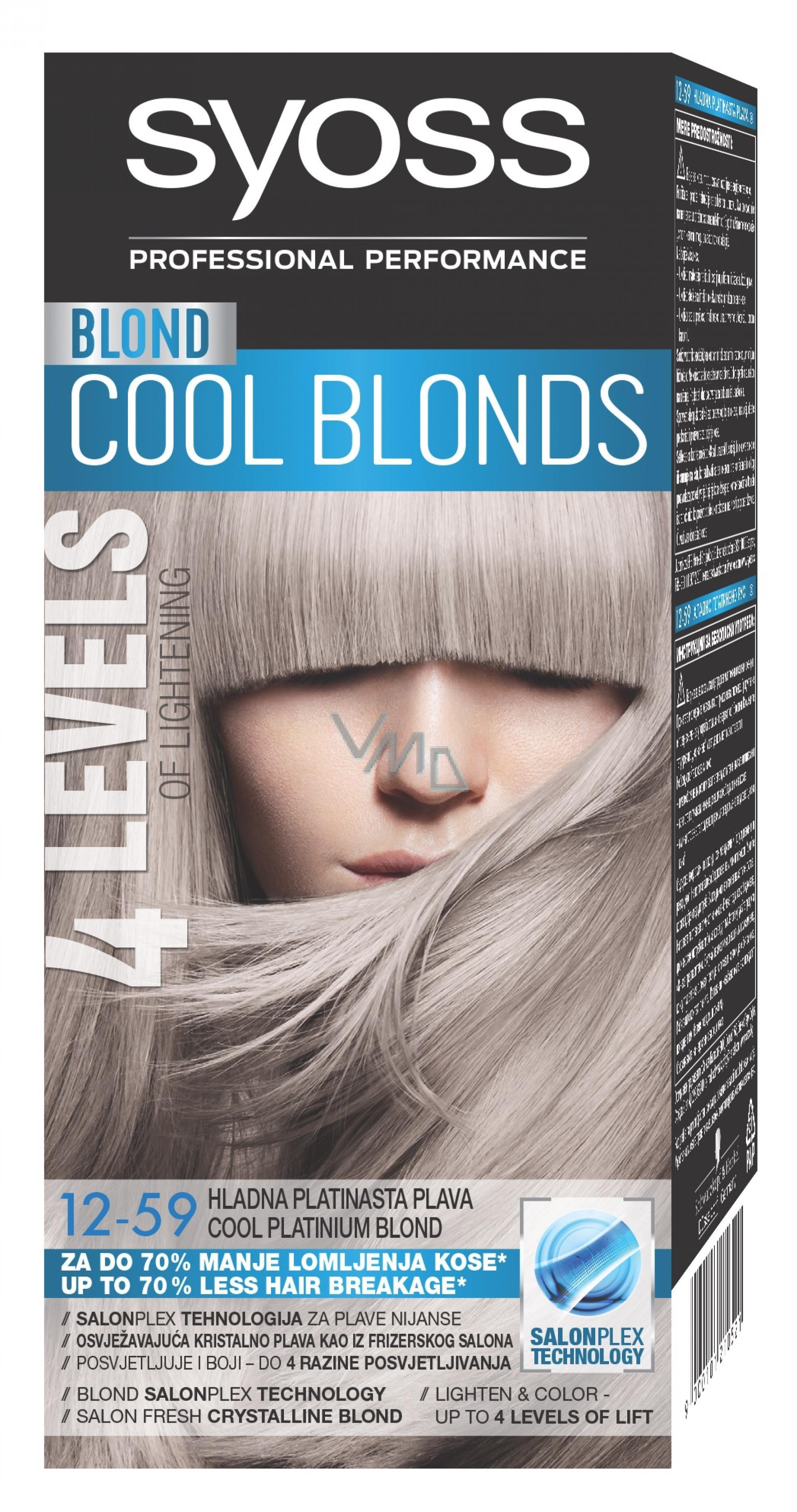 Syoss Blond Cool Blonds barva na vlasy 12-59 Chladná platinová blond 50 ml ee65bff6252