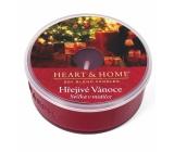 Heart & Home Hřejivé Vánoce Sojová vonná svíčka v mističce hoří až 12 hodin 36 g