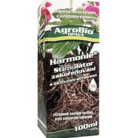 AgroBio Harmonie Stimulátor zakořeňování s aktivním stříbrem, zesiluje rostliny a podporuje tvorbu kořenů 100 ml