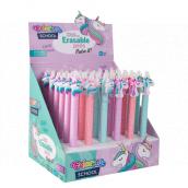 Colorino Gumovatelné pero Jednorožec růžové, modrá náplň 0,5 mm