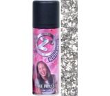 Zo Cool Glitter Sprej glitry na vlasy a tělo Silver 125 ml