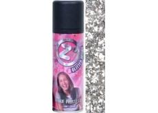 Zo Cool Glitter Spray glitry na vlasy a tělo Silver 125 ml