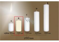 Lima Gastro hladká svíčka slonová kost válec 60 x 120 mm 1 kus