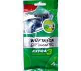 Wilkinson Extra 3 Sensitive holící strojek jednorázový 3 břity 4 ks