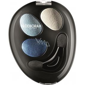Deborah Milano Trio Hi-Tech Eyeshadow oční stíny 03 Into Blue Sky 4,2 g