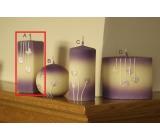 Lima Rozkvetlá louka svíčka světle fialová hranol 45 x 120 mm 1 kus
