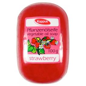 Kappus Strawberry glycerinové toaletní mýdlo s rostlinným olejem 100 g