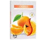 Bispol Aura Orange - Pomeranč vonné čajové svíčky 6 kusů