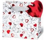 BSB Luxusní dárková papírová taška 14,5 x 15 x 6 cm Srdce LDT 362-CD