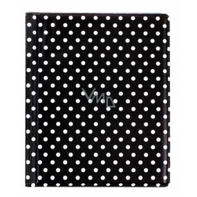Albi Pouzdro na karty i doklady Puntíky na černé 10 cm × 13,5 cm