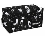 Albi Original Kosmetické pouzdro hranaté Kočky 19 x 12 x 11 cm