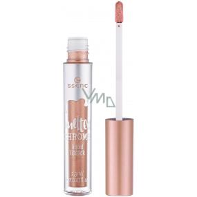 Essence Melted Chrome Liquid Lipstick tekutá rtěnka 02 Rosie Goldie 2,3 ml