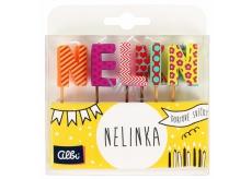 Albi Dortové svíčky jméno - Nelinka, 2,5 cm