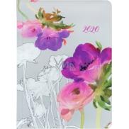 Albi Diář 2020 týdenní Akvarelové květy 17 x 12,5 x 1,2 cm