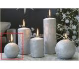 Lima Ledová svíčka stříbrná koule 80 mm 1 kus