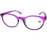 Berkeley Čtecí dioptrické brýle +2,5 plast fialové, kulaté skla 1 kus MC2171