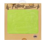 Albi Fitness ručník Fit, fit, hurááá zelený 90 x 50 cm