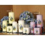 Lima Vůně Květin Fialka vonná svíčka fialová s obtiskem krychle 45 x 45 mm 1 kus