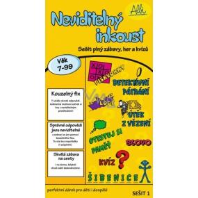 Albi Vzdělávací sešit Žlutý Testy paměti, logické hry, jazykové či vědomostní kvízy, které se odkrývají Kouzelným fixem!, od 7- 99 let, náročnost 1