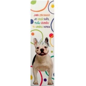 Albi Papírová záložka - Usmívající se pes