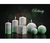 Lima Aromatická spirála Relaxy svíčka bílo - zelená válec 70 x 150 mm 1 kus