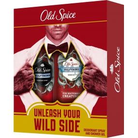 Old Spice Wolfthorn sprchový gel pro muže 250 ml + deodorant spray 125 ml, kosmetická sada