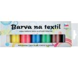 Sada barev na tmavý a barevný textil 7 x 15 g + šablony