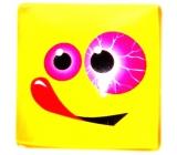 Nekupto Magnet Emoji Smajlík čtvereček žlutý, s jazykem 4 x 4 cm