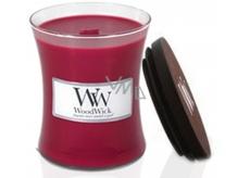 WoodWick Currant - Rybíz vonná svíčka s dřevěným knotem a víčkem sklo malá 85 g