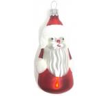 Irisa Baňky skleněné figurka Santa, sada 5 kusů