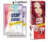 Marion Star Color smývatelná barva na vlasy Red - Červená 2 x 35 ml