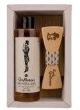 Bohemia Gifts Gentleman Pivní kvasnice a chmel sprchový gel 250 ml + dřevěný motýl kosmetická sada pro muže