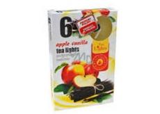 Tea Lights Apple Vanilla s vůní jablka a vanilky vonné čajové svíčky 6 kusů