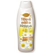 Bione Cosmetics Heřmánek velmi lehké, rychle se vstřebávající tělové mléko pro všechny typy pokožky 500 ml
