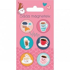 Albi Sada Magnetů Kafe 6 kusů