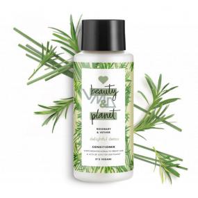 Love Beauty & Planet Rozmarýn a Vetiver Detoxikační čisticí kondicionér pro normální až mastné vlasy 400 ml