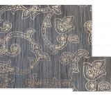 Nekupto Dárkový balicí papír 70 x 150 cm Tmavě modrý s ornamenty