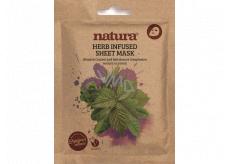 Beauty Pro Natura Textilní pleťová maska proti nedokonalostem pleti s extraktem bylin 22 ml